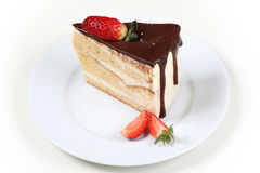 Chocolate cake with strawberry Royalty Free Stock Photography