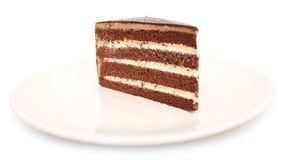 Chocolate cake sweet food closeup Royalty Free Stock Photography