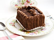 Chocolate cake tea Stock Image