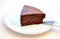 Chocolate cake temptation concept .confort food  Stock Photography