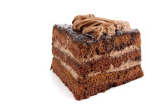 Chocolate Cake of three cakes Stock Image