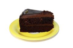 Chocolate cake to eat with coffee Stock Images