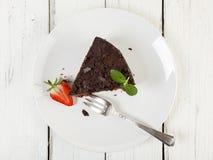 Chocolate cake, top view Stock Photos