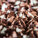 Chocolate Cake Topping Stock Images