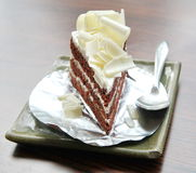 Chocolate cake with topping Stock Photos