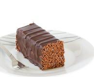 Chocolate cake with truffle decoration isolated Stock Photos