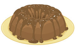 Chocolate cake. Vector Illustration Royalty Free Stock Photography