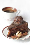 Chocolate cake with walnuts Stock Image