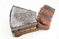 Chocolate Cake. With white background Royalty Free Stock Photo