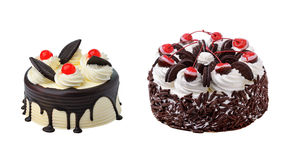 Chocolate cake  on white background Royalty Free Stock Photography