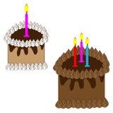 Chocolate cake on white background Royalty Free Stock Photo