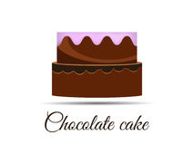 Chocolate cake  on white background. Royalty Free Stock Photography