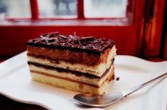 chocolate opera cake Royalty Free Stock Photo
