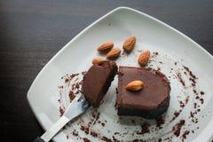 Chocolate cake withalmond. Stock Photography