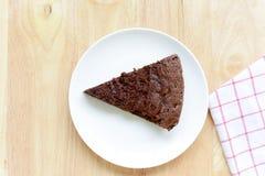 Chocolate cake on wood table. Stock Photography