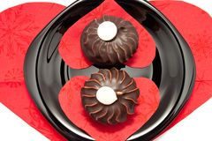 The chocolate cakes Royalty Free Stock Photo