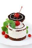 Chocolate cakes with cherry Stock Photo