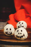 Chocolate cakes in the form of monsters and skeletons for kids Stock Photography