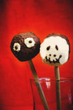 Chocolate cakes in the form of monsters and skeletons for kids Stock Image