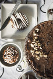 Chocolate cakes table Royalty Free Stock Photography