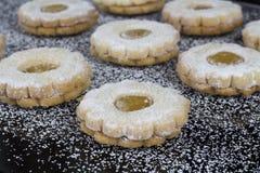 Chocolate caliente con las galletas Fotografía de archivo libre de regalías