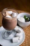Chocolate caliente con las melcochas Fotografía de archivo libre de regalías