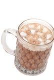 Chocolate caliente con los marshmellows Imagen de archivo libre de regalías