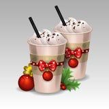 Chocolate caliente de la Navidad Fotos de archivo