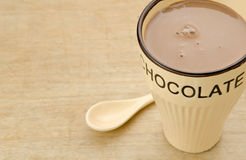 Chocolate caliente de la taza Fotografía de archivo