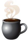 Chocolate caliente del café caliente Imagen de archivo libre de regalías