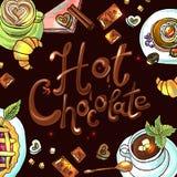 Chocolate caliente del fondo hermoso Fotografía de archivo