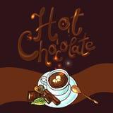 Chocolate caliente del fondo hermoso Fotografía de archivo libre de regalías