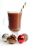 Chocolate caliente festivo Fotos de archivo libres de regalías