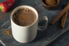 Chocolate caliente mexicano picante del día de fiesta hecho en casa Fotos de archivo libres de regalías