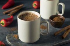 Chocolate caliente mexicano picante del día de fiesta hecho en casa Imágenes de archivo libres de regalías