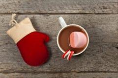 Chocolate caliente y melcocha Imágenes de archivo libres de regalías
