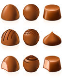 Chocolate candies Stock Photo
