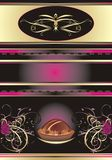 Chocolate candies. Abstract background for wrappin. G. Vector illustration Royalty Free Stock Photos