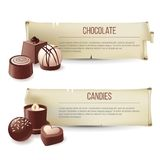 Chocolate candies banners Royalty Free Stock Image