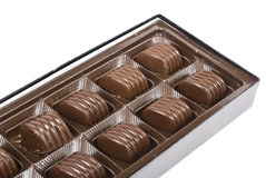 Chocolate candies in box Stock Images