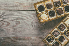 Chocolate candies box Royalty Free Stock Image