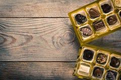 Chocolate candies box Royalty Free Stock Photo