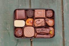 Chocolate candies box Stock Image