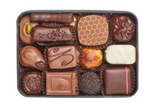 Chocolate candies box Royalty Free Stock Images