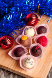 Chocolate candies. Christmas and New Year concept Royalty Free Stock Images