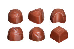 Chocolate candies collection isolated on white Stock Photos