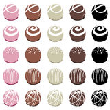 Chocolate candies for dessert, vector  Royalty Free Stock Photo