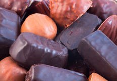 Chocolate candies of different colors Royalty Free Stock Photo