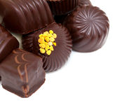 Chocolate candies and empty space Royalty Free Stock Photography
