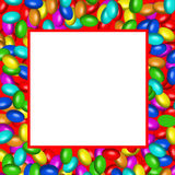 Chocolate candies frame (AI format available). Illistration of a chocolate candies square frame vector illustration
